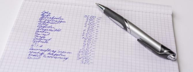 Um ein Insolvenzverfahren anmelden zu können, ist ein Überblick über die Schulden unerlässlich.