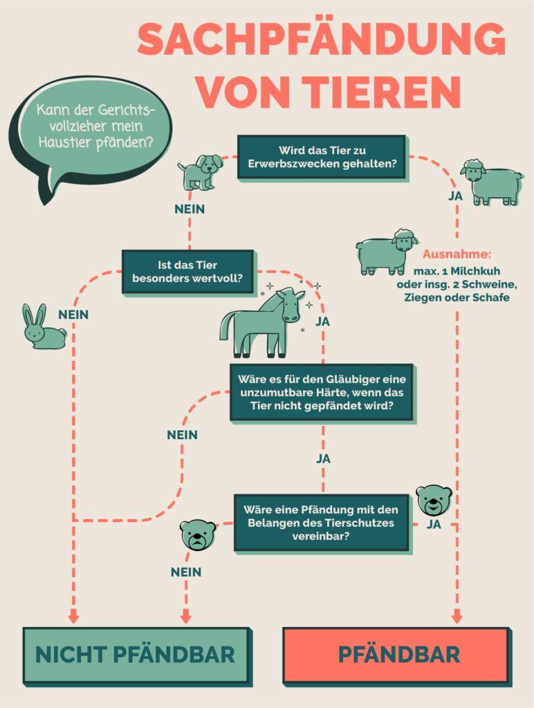 Wann ist die Sachpfändung von Tieren möglich?